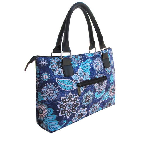 blue lunch tote