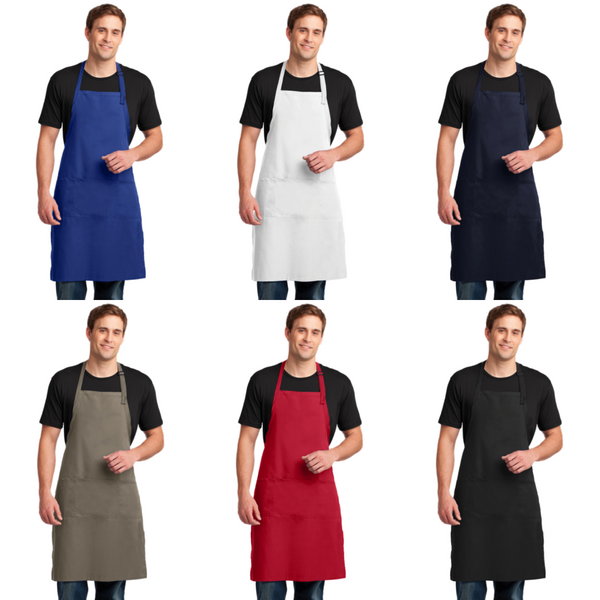 Personalized this Easy Extra Care Long Bib Apron with Stain Release