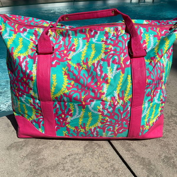 Hot Pink Reef Tote (SHIPS SAME DAY)