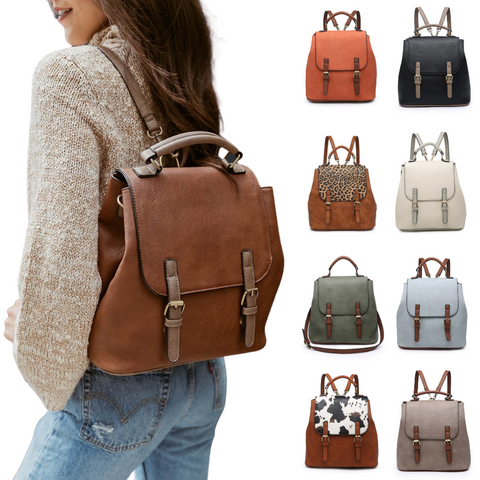 backpack with buckle closure