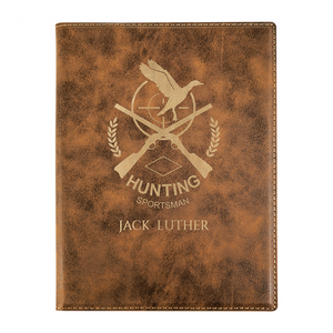 rustic gold journal, personalized journal