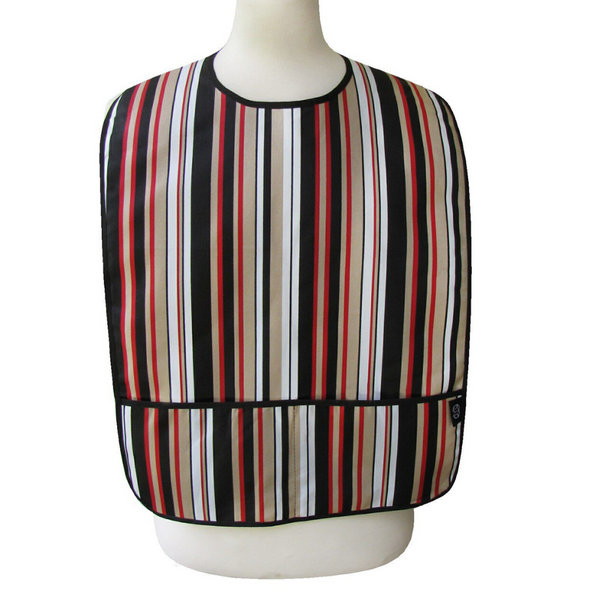 Dark Neutral Stripe Adult Bib