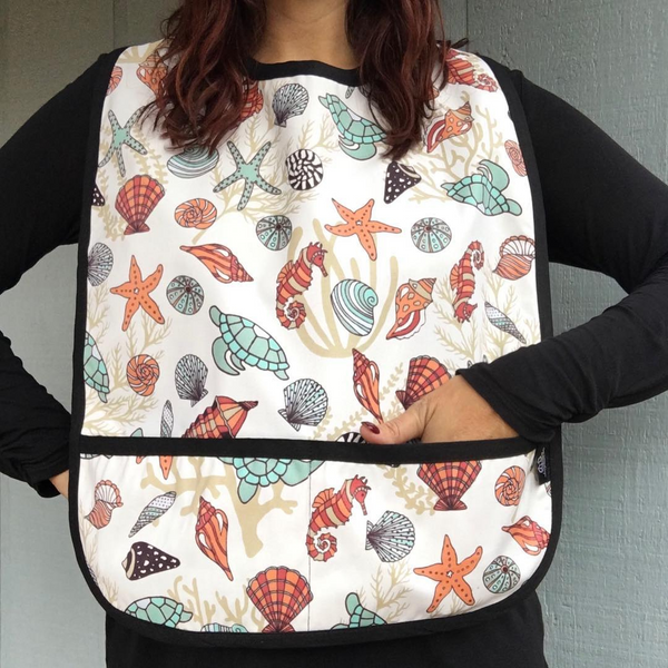 Seashells Adult Bib