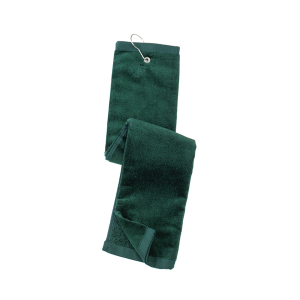 green towel, golf towel