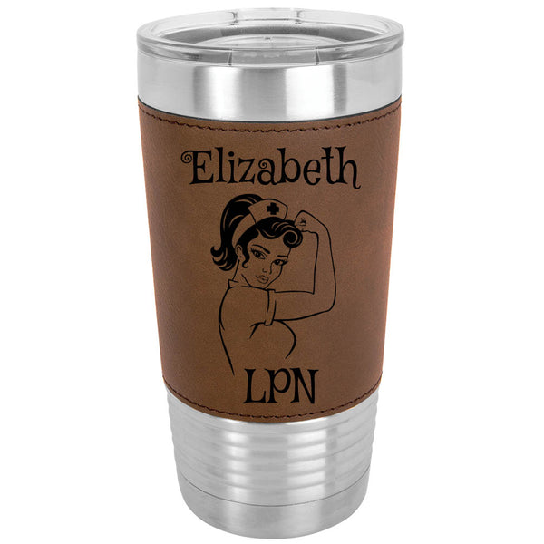 Nurse Leatherette Tumbler 20oz