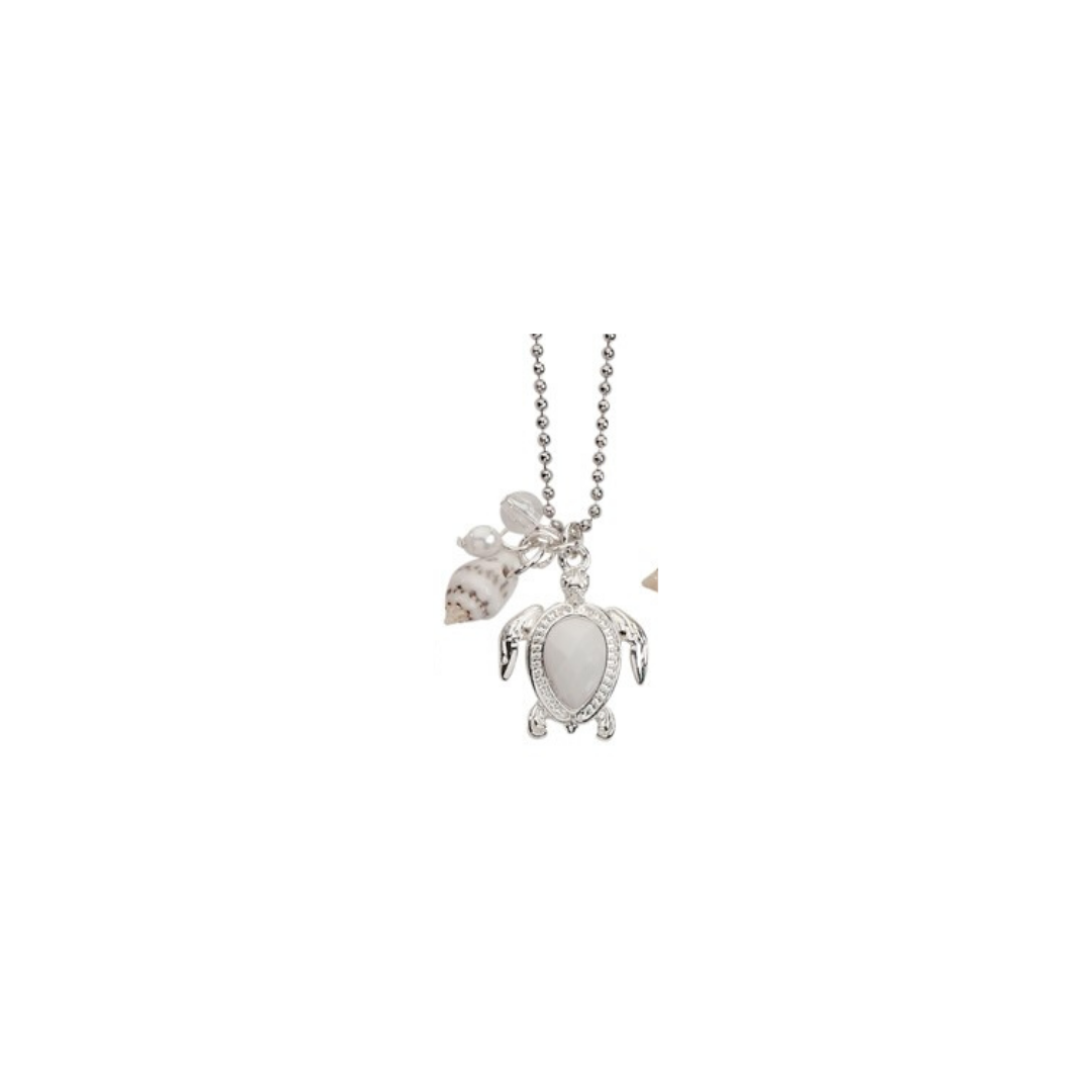 Facet Bead Sea Turtle Necklace