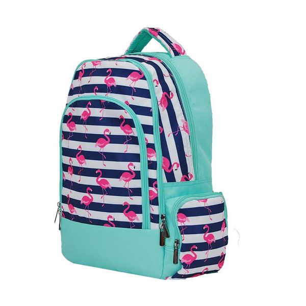 pink flamingo kids school bag