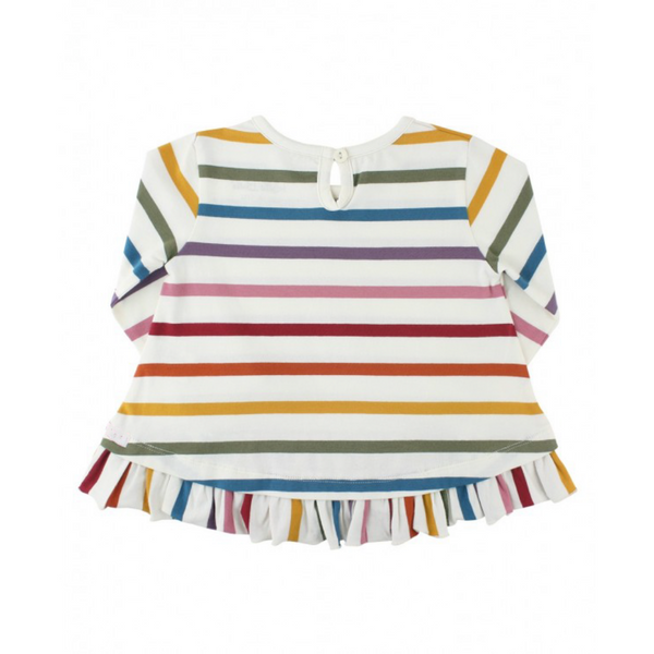 rainbow, ruffle hem, kids clothing