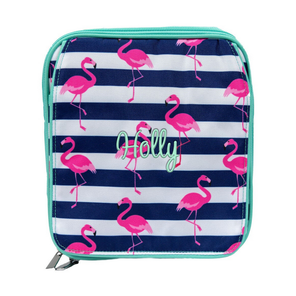 Flamingo with Mint Trim Combo