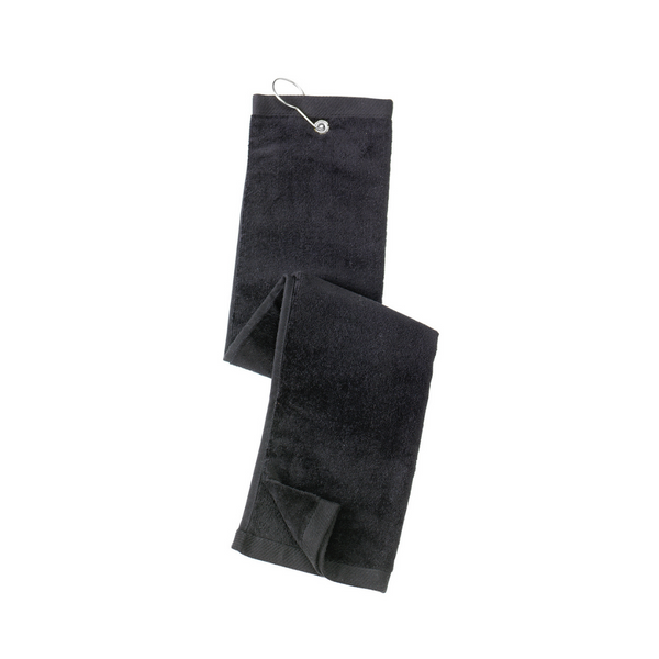 black towel, golf towel