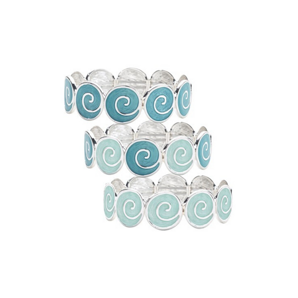 Circle Swirl Wave Stretch Bracelet