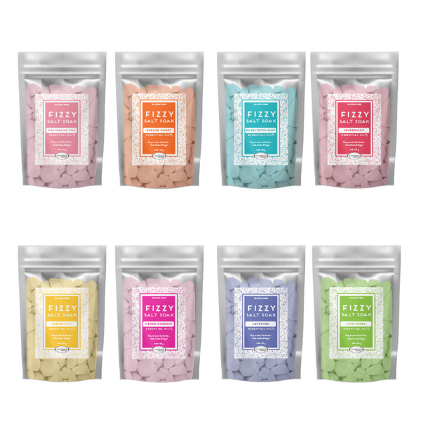 Frizzy Salt Soak comes in different scents to choose from