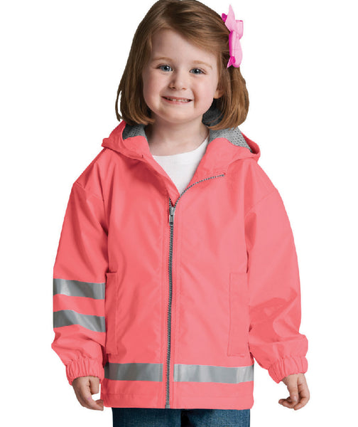 Reflective Rain Jacket for Toddler (2T-3T)