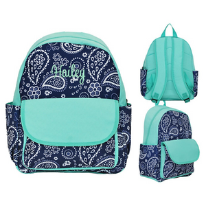 Navy Paisley Toddler Backpack