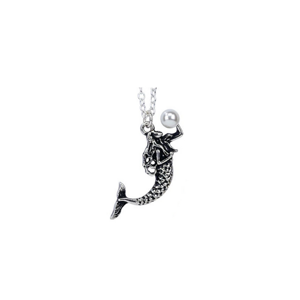 Mermaid with Pearl Bead Necklace
