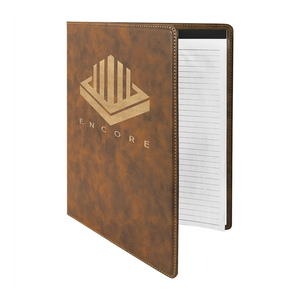 journal with notepad, leather journal