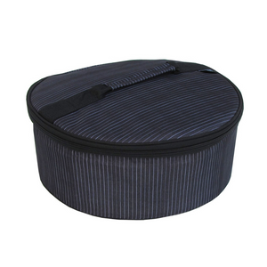 Pinstripe Round Insulated Carrier