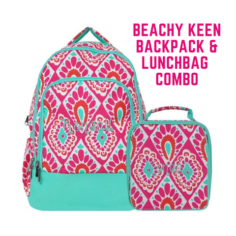 Beachy Keen Backpack & Lunchbox Set