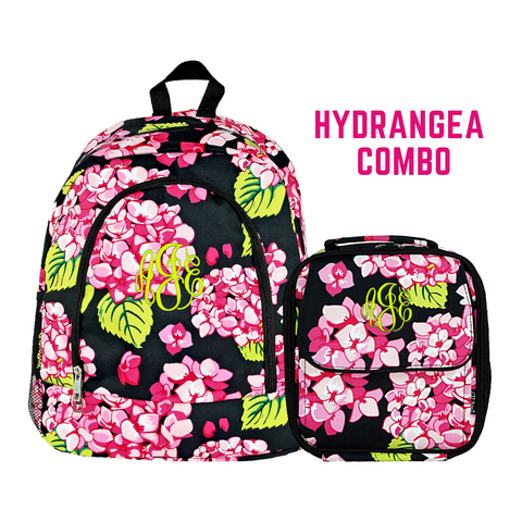 hydrangea backpack set