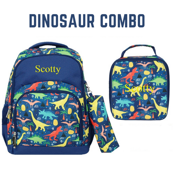 Dinosaur Backpack and Lunchbag Combo