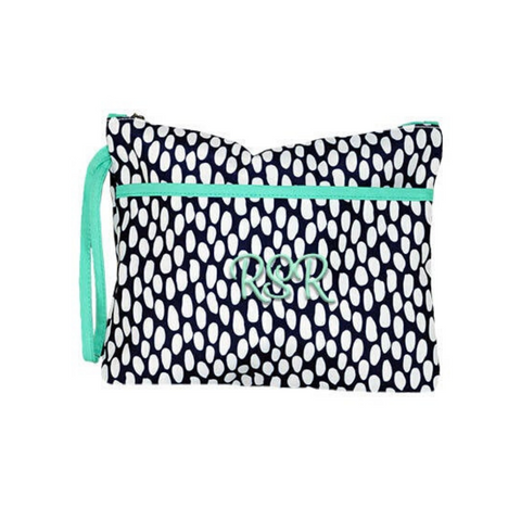 Tidal Pool Print Cosmetic Bag