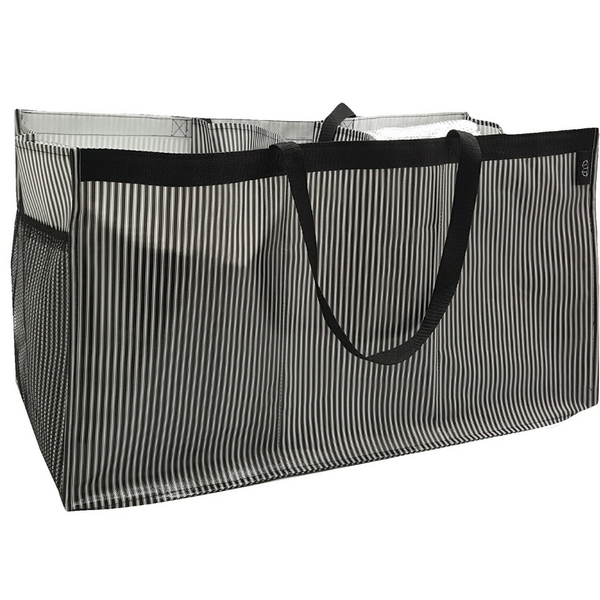 BW Stripe Three Compartment Trunk Tote