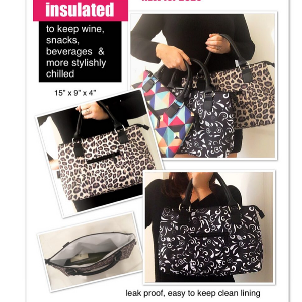 Plain Black Lunch Tote