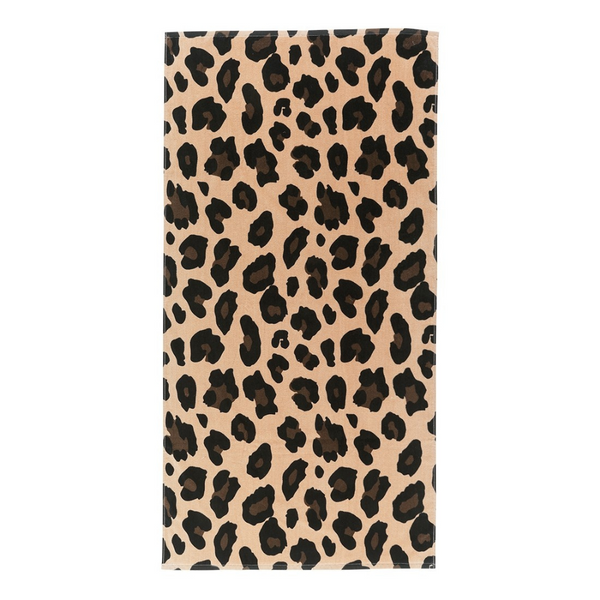 brown leopard towel