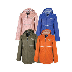 Women's Rain Jacket with Printed Lining
