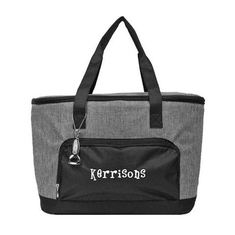 black cooler tote, insulated cooler