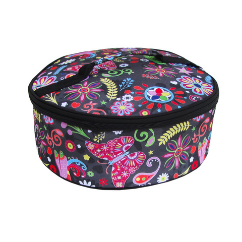 Pop Floral Round Insulated Carrier
