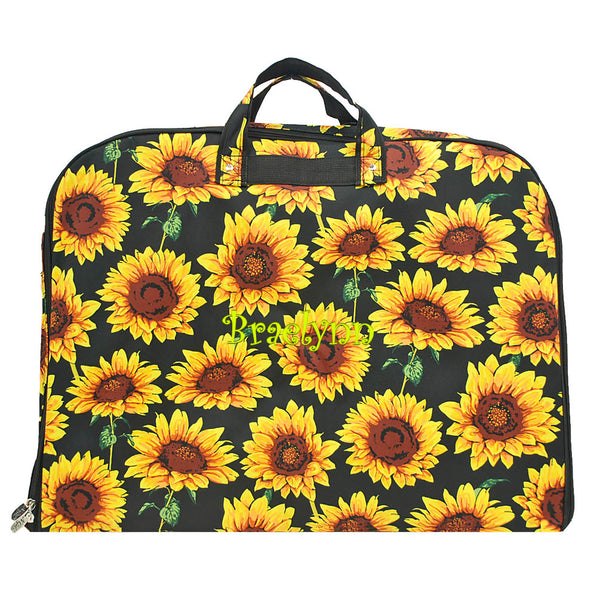 sunflower garment bag, sunflower bag