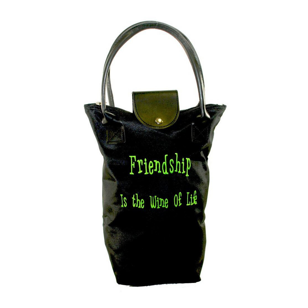 wine bag black