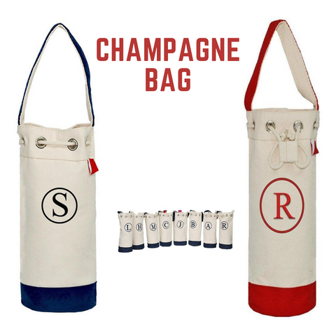 champagne canvas bag