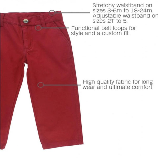Baby Cranberry Straight Pants