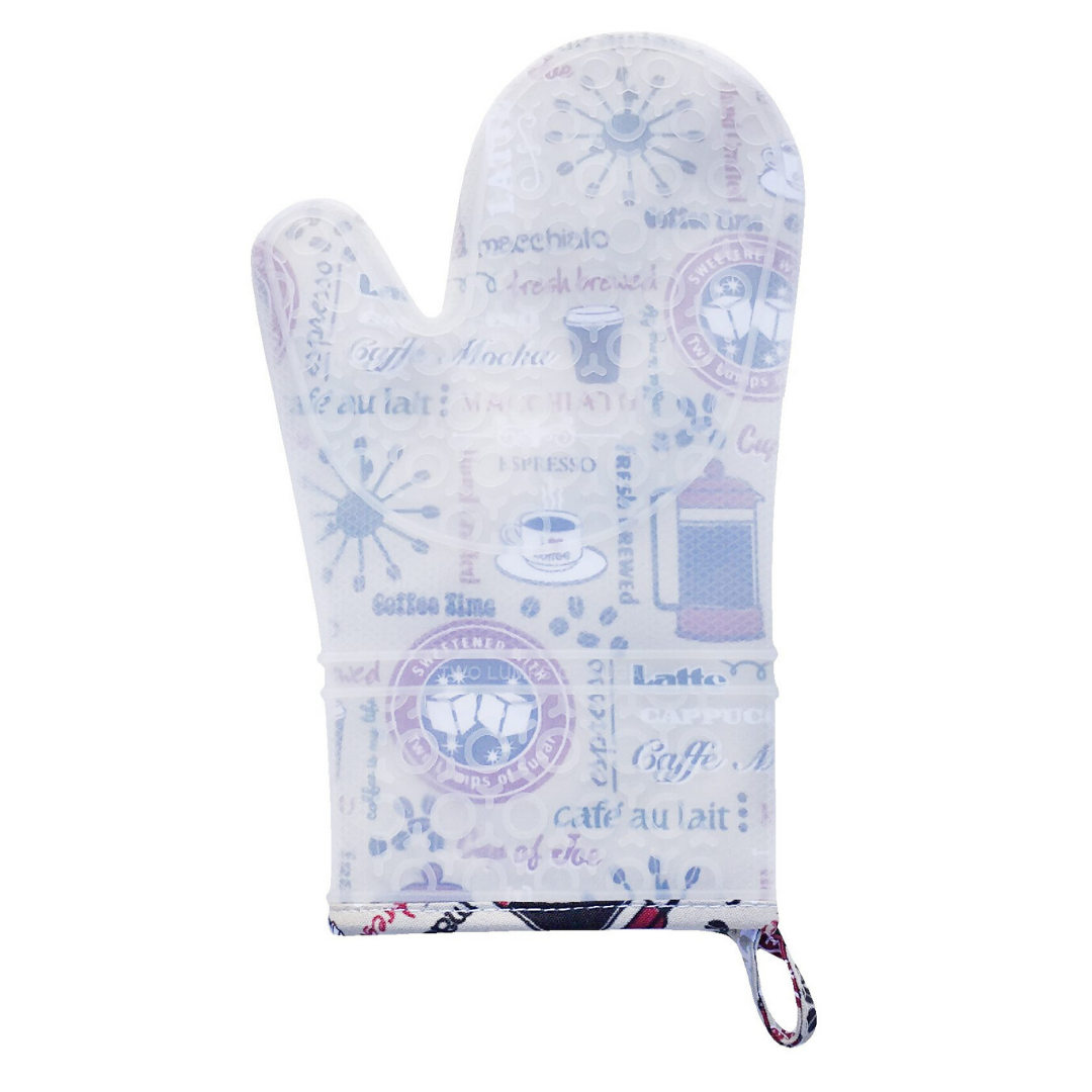 Coffee Time Silicone Oven Mitt