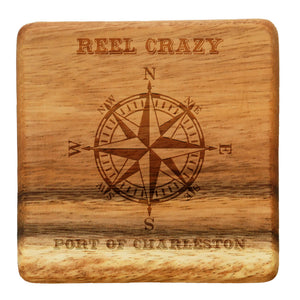 4 Wood Coasters Personalized