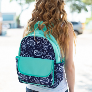 paisley backpack for kids, kids backpack