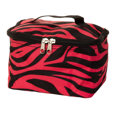 hot pink cosmetic bag, cosmetic bag, zebra cosmetic bag, cosmetic case