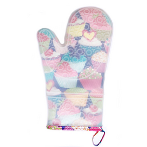 Cupcakes Silicone Oven Mitt