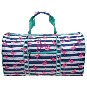 Personalized this Flamingo Duffle Bag 21""