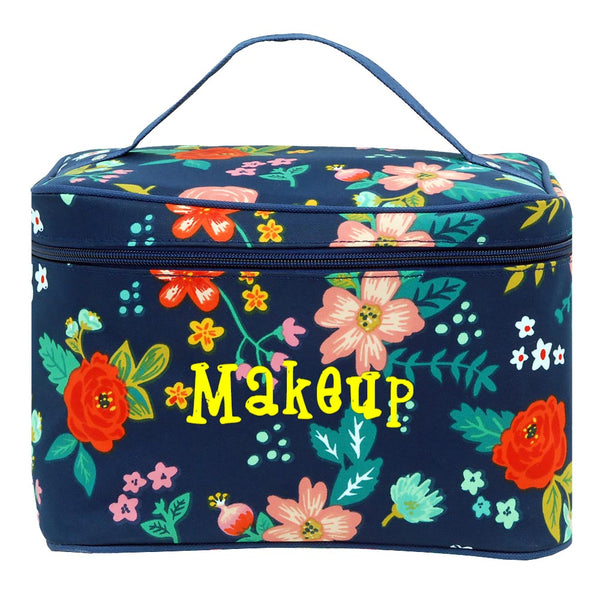Personalize these Floral Cosmetic Bag, use it as an organizer, make up bag, travel bag and put all your things in one spot.
