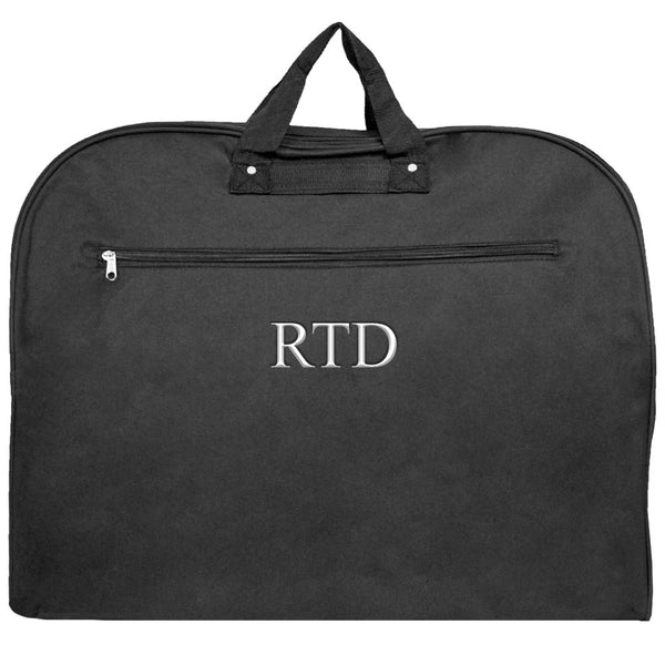 Personalized this Solid Black Garment Bag