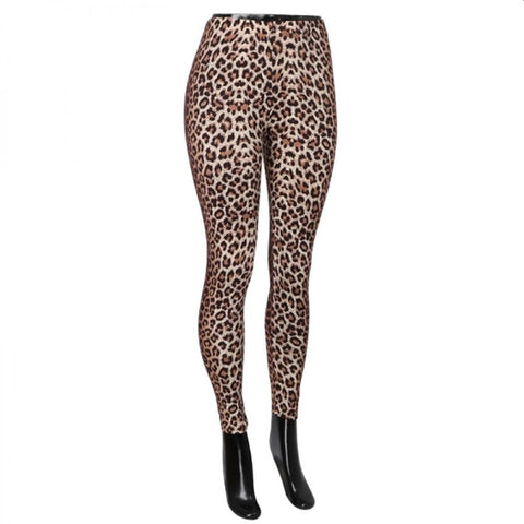 Peach Skin Soft Leggings Leopard Print One Size