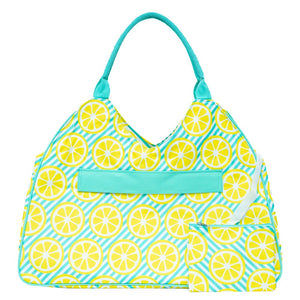 Personalized this Main Squeeze Large Beach Tote