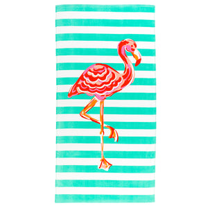 Personalized this Flamingo Beach Towel