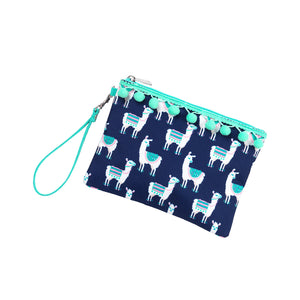 Personalized this Navy Lulu Llama Wristlet