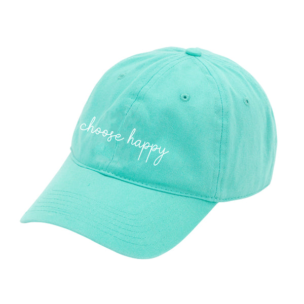 Personalized this Mint Choose to be Happy Cap