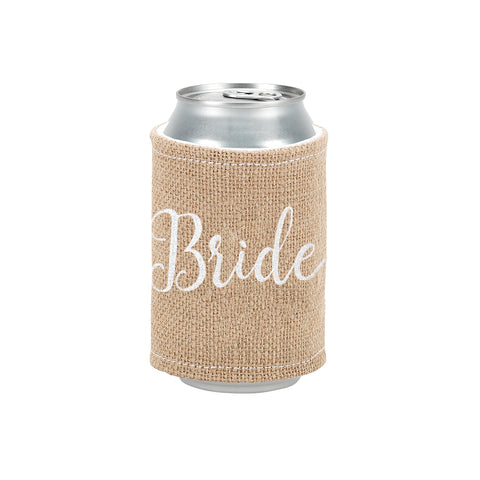 Personalized this Burlap Bride Drink Wrap