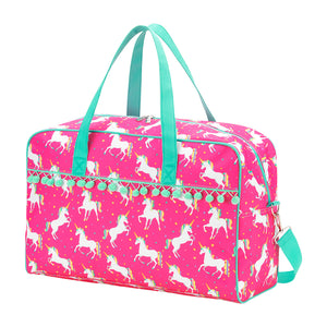 Personalized this Pink Unicorn Wishes Travel Bag